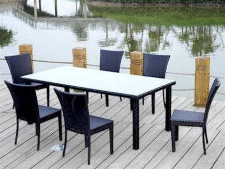 Anderson Teak Wicker Sheraton Dining Set Table