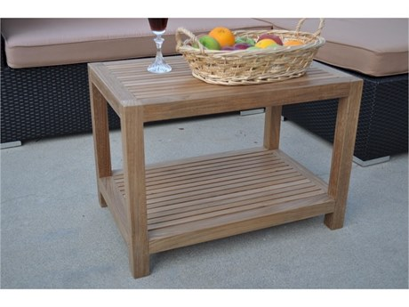 Anderson Teak Windsor 24 x 16 Rectangular Side Table 2-Tier