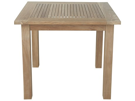 Anderson Teak Windsor 35 Square Table Small Slats AKTB035SS