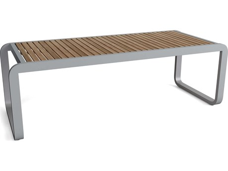 Anderson Teak Monza Aluminum 91''W x 30''D Rectangular Dining Table