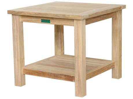 Anderson Teak 22 Square 2-Tier Side Table