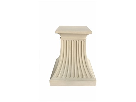 Anderson Teak Fluted Cast Limestone Pedestal Table Base
