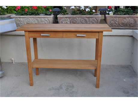 Anderson Teak Atlanta Rectangular Serving Table with 2 Drawers and 1 Shelf