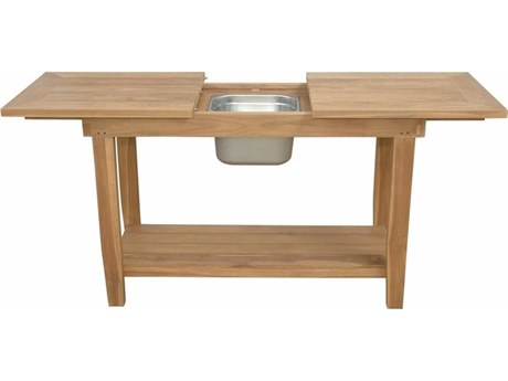 Anderson Teak Nautilus Console Table with SS Container AKTB4821