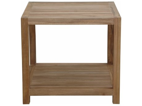 Anderson Teak Glenmore 22'' Side Table W/ 1-Tier PatioLiving