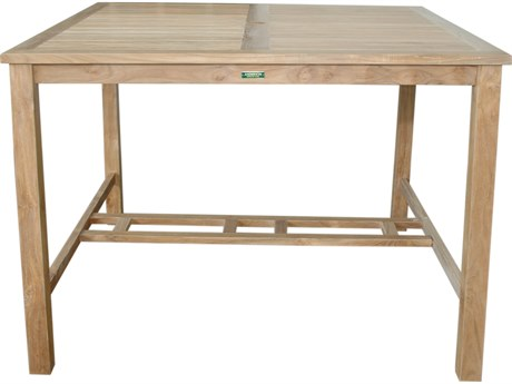 Anderson Teak Windsor 59'' Square Bar Table PatioLiving