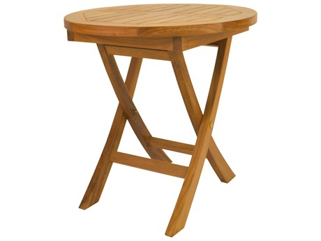 Anderson Teak Bahama 20 Round Mini Side Folding Table AKTBF020R