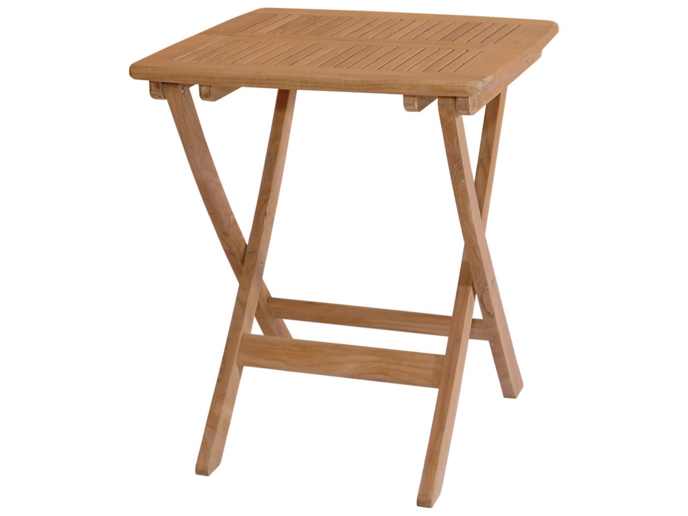 anderson teak windsor 24 square folding bistro table tbf. Black Bedroom Furniture Sets. Home Design Ideas