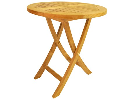 Anderson Teak Bahama 27'' Round Bistro Folding Table PatioLiving
