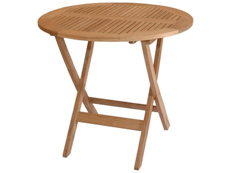 Anderson Teak Windsor 31 Round Folding Bistro Table