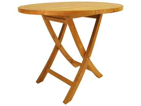 Anderson Teak Bahama 35'' Round Bistro Folding Table PatioLiving