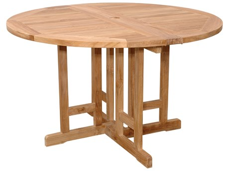 Anderson Teak Butterfly 47 Round Folding Table AKTBF047BR