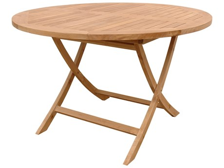 Anderson Teak Bahama 47'' Round Folding Table PatioLiving