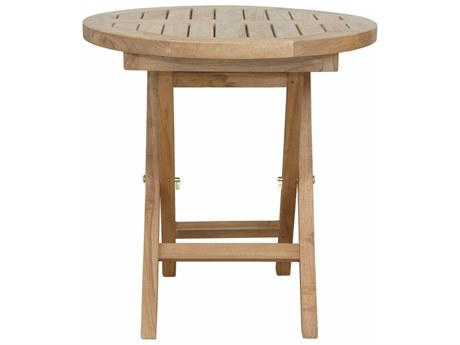 Anderson Teak Montage 20'' Round Folding Table PatioLiving