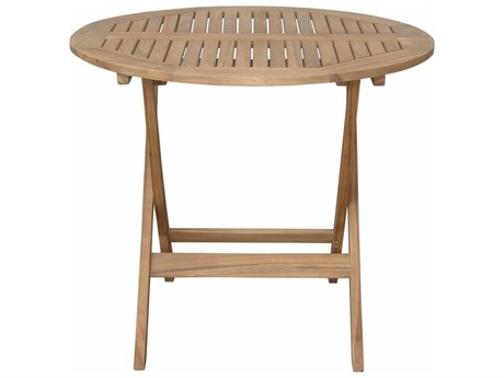 Anderson Teak Chester 32'' Round Folding Picnic Table