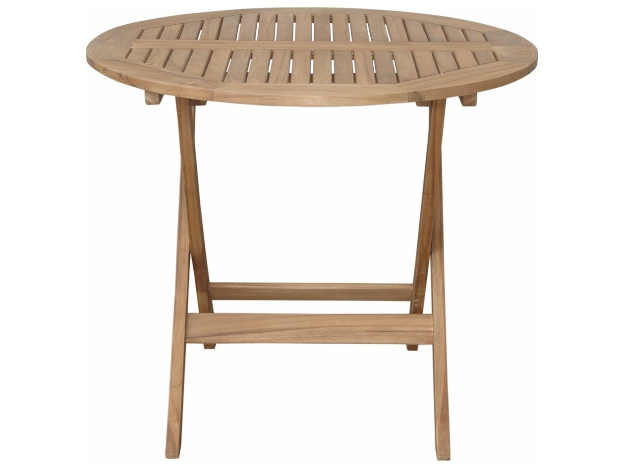 Anderson Teak Chester Round Folding Picnic Table TBFR - Anderson round table