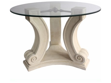 Anderson Teak Regency Cast Limestone 42'' Wide Round Entry Hallway Table