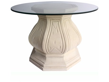 Anderson Teak Louis Xiv Cast Limestone 42'' Wide Round Dining Table / Entry Hallway Table