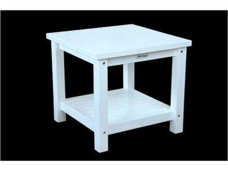 Anderson Teak Kenzie 22 Square Side Table with 2-Tier