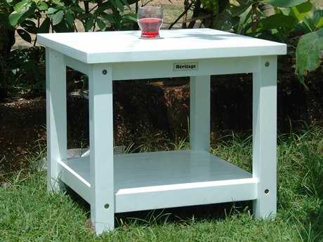 Anderson Teak Kenzie 22 Square Side Table with 2-Tier PatioLiving