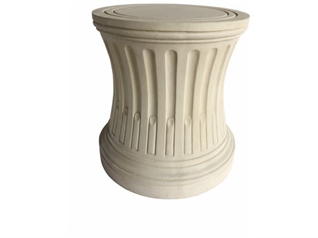 Anderson Teak Louis Xvi Cast Limestone Pedestal Table Base