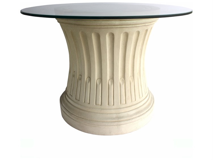 Anderson Teak Louis Xvi Cast Limestone Wide Round Dining Table - Anderson round table