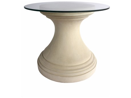 Anderson Teak Fleur Cast Limestone 36'' Wide Round Dining Table/ Entry Hallway Dimension
