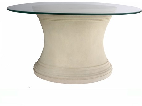 Anderson Teak Fairbank Cast Limestone 47''W x 29''D Oval Dining Table / Entry Hallway Table