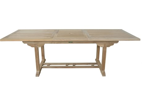 Anderson Teak Bahama 8-Foot Natural 71-94''W x 35''D Rectangular Extension Dining Table AKTBX008R