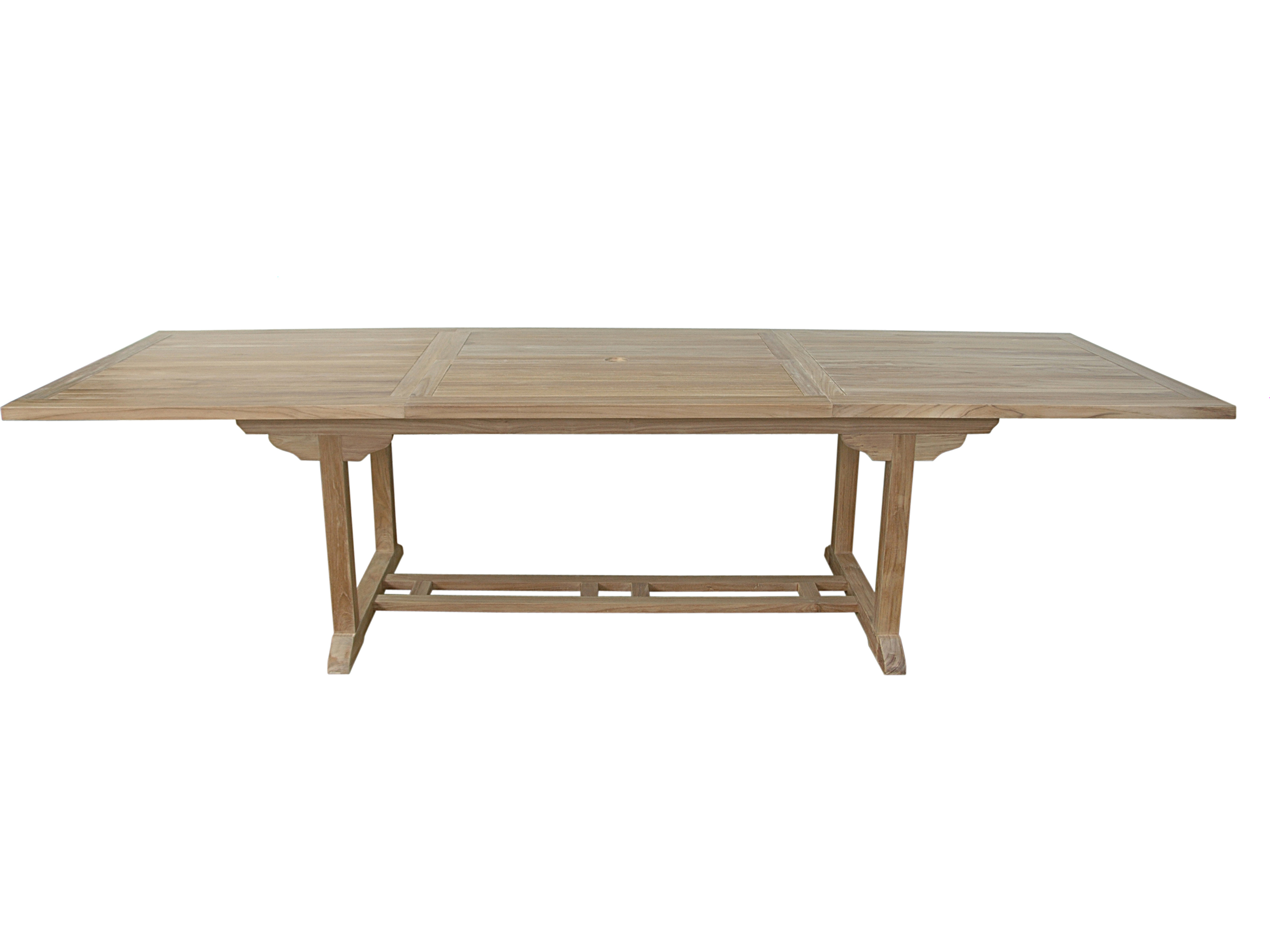 Anderson Teak Bahama 10 Foot Natural 77 118u0027u0027W X 39u0027u0027D Rectangular  Extension Dining Table