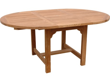 Anderson Teak Bahama Natural 47-67''W x 47''D Oval Extension Dining Table