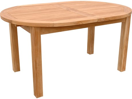 Anderson Teak Bahama Natural 59-78''W x 39''D Oval Extension Dining Table AKTBX079V