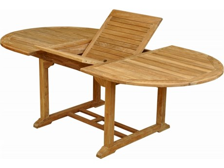 Anderson Teak Bahama 87'' Oval Extension Table Extra Thick Wood PatioLiving