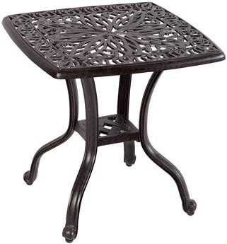 Alfresco Home Kaleidoscope Cast Aluminum 21 Square Side Table