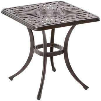 Alfresco Home Florentine Cast Aluminum 21 Square Side Table