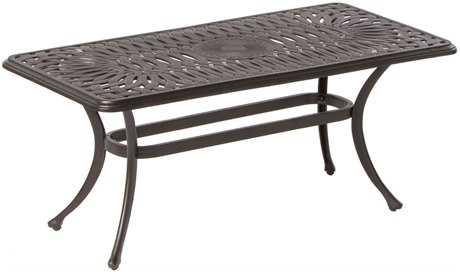 Alfresco Home Florentine Cast Aluminum 42 Rectangular Coffee Table