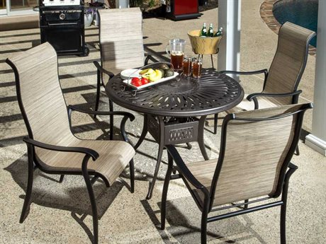 Alfresco Home Charter Cast Aluminum 5 Piece Dining Set