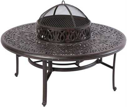 Alfresco Home Kaleidoscope Cast Aluminum Fire Pit Patio Table