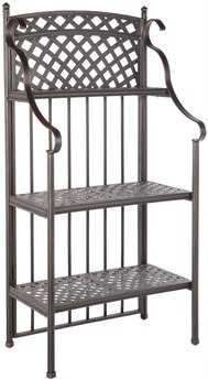 Alfresco Home Cast Aluminum Weave Outdoor Bakers Rack