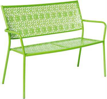Alfresco Home Martini Steel Garden Bench