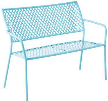 Alfresco Home Martini Wrought Iron Garden Bench