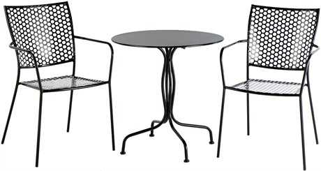 Alfresco Home Martini Wrought Iron 3 Piece Bistro Set