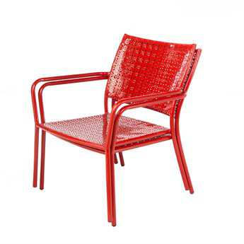 Alfresco Home Martini Low Profile Lounge Chairs in Cherry Pie Set of 2