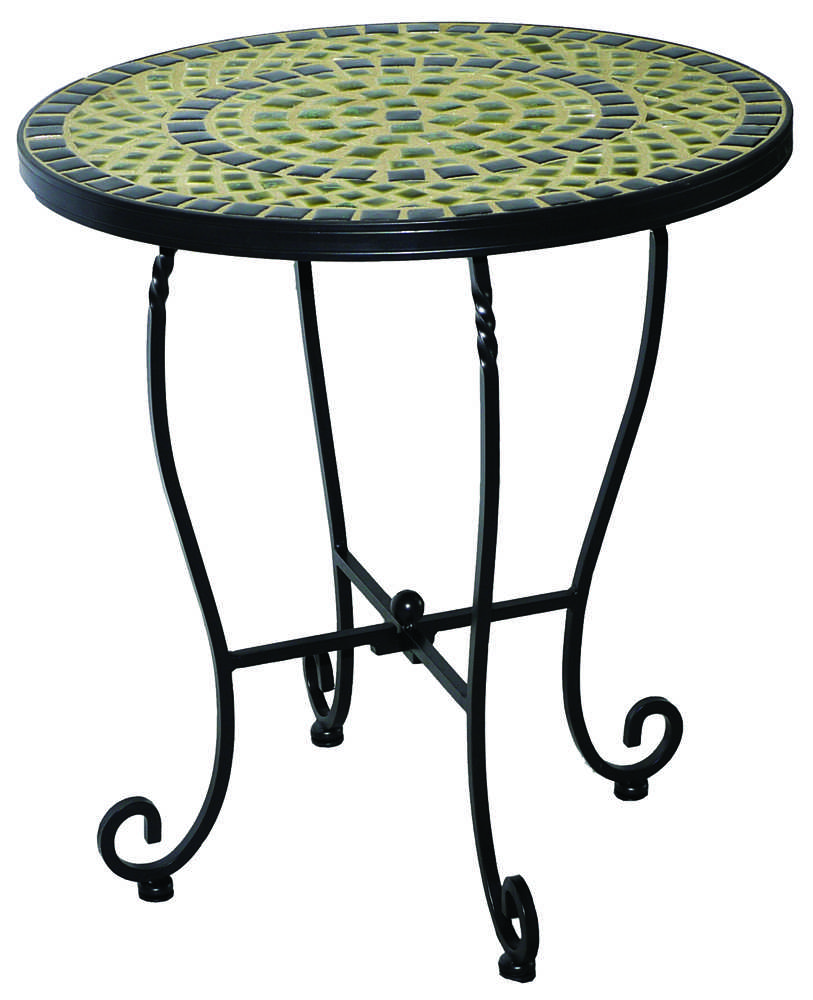 alfresco home shannon wrought iron mosaic 20 side table 28 1172