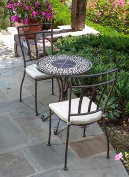 Alfresco Home Vulcano Wrought Iron Three Piece Bistro Set - LIMITED AVAILABILITY