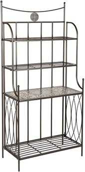 Alfresco Home Vulcano Wrought Iron Storage Rack