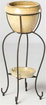 Alfresco Home Duetto Elevated Planter & Beverage Cooler in Antique Cream