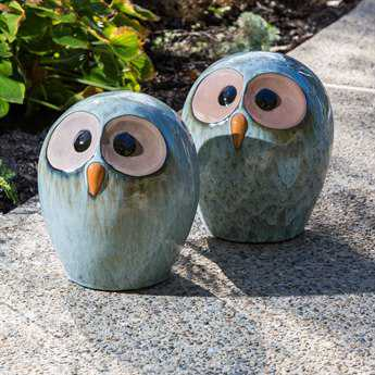 Alfresco Home Owl Medium Ceramic