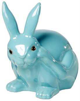 Alfresco Home Garden Ceramic Scratching Rabbit