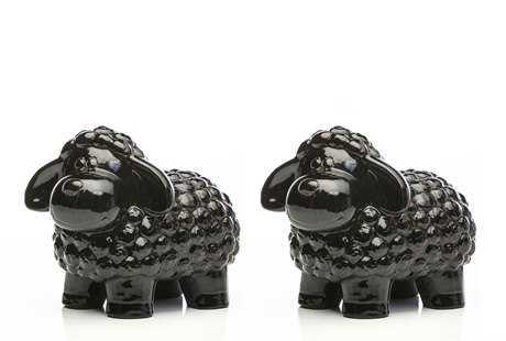 Alfresco Home Ceramic Black Sheep